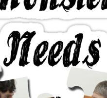 Every Lonely Monster... [Black/ Johnlock] Sticker