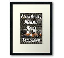 Every Lonely Monster...[Johnlock] Framed Print