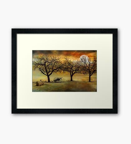 And the Cock crowed three times Framed Print