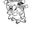 Tardigrade Tough Monochrome Dark on Light by Veronica Guzzardi