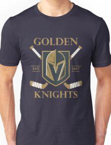 A Golden Vegas Sports Hockey Shirt Knight Emblem Unisex T-Shirt