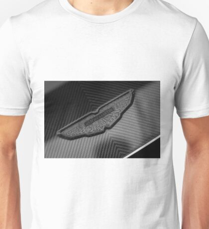 Aston Martin Forged Carbon Fibre Badge Unisex T-Shirt