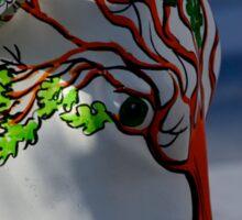 Cow with tree, Ebrington, Derry Sticker
