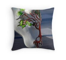 Cow with tree, Ebrington, Derry Throw Pillow