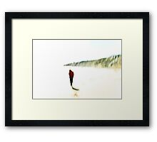 Beach combing #01 Framed Print