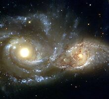 Galactic collision by Old-Time-Images