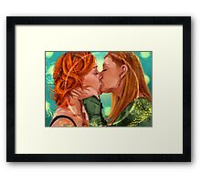 Love is Powerful Framed Print