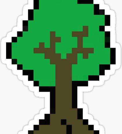 Pixel Tree Sticker