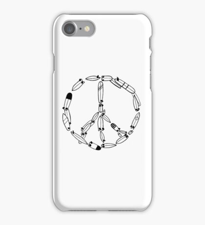 Surfboard peace sign iPhone Case/Skin