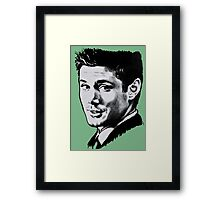 Dean Winchester in black. Framed Print
