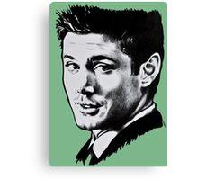 Dean Winchester in black. Canvas Print
