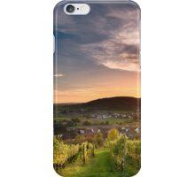 Warm Autumn Sunset on Vineyard iPhone Case/Skin
