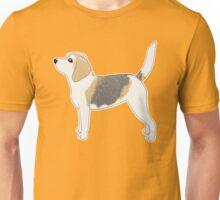 Old Beagle Party Time - Yellow Background / senior dog grey muzzle best friend bff loyal hound art artwork Unisex T-Shirt