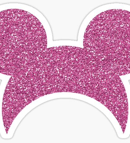 Pink Glitter Mouse Inspired Sticker