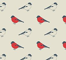 Seamless vintage pattern with birds by julietblnk