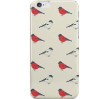 Seamless vintage pattern with birds iPhone Case/Skin