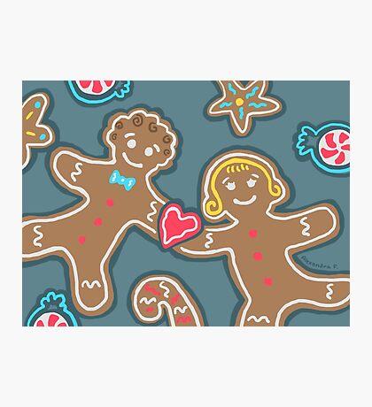 Gingerbread Couple Photographic Print
