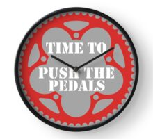 Time To Push The Pedals Clock