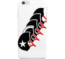 Roller Derby helmets (Black design) iPhone Case/Skin