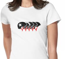 Roller Derby helmets (Black design) Womens Fitted T-Shirt