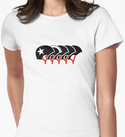 Roller Derby helmets (Black design) Womens Fitted T-Shirt