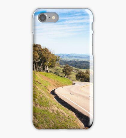 Winding road near San Simeon, CA iPhone Case/Skin