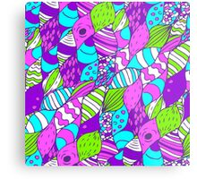 Bright psychedelic doodle Metal Print