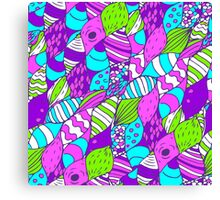 Bright psychedelic doodle Canvas Print