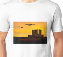 Two Lancasters over Lincoln cathedral Unisex T-Shirt