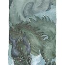 Murk Dragon - watercolours by drakhenliche