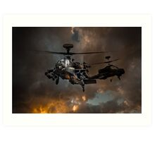 Apache Storm UK Army Helicopter Art Print