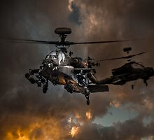 Apache Storm UK Army Helicopter by AviationPrints