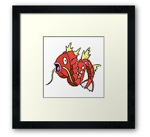 Shiny Megaevolved Magikarp Is Not Pleased Framed Print