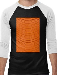 Orange Snake Skin Men's Baseball ¾ T-Shirt