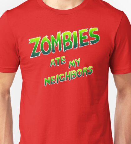 Zombies Ate My Neighbors (SNES Title Screen) Unisex T-Shirt