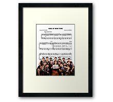 King of New York - Newsies Framed Print