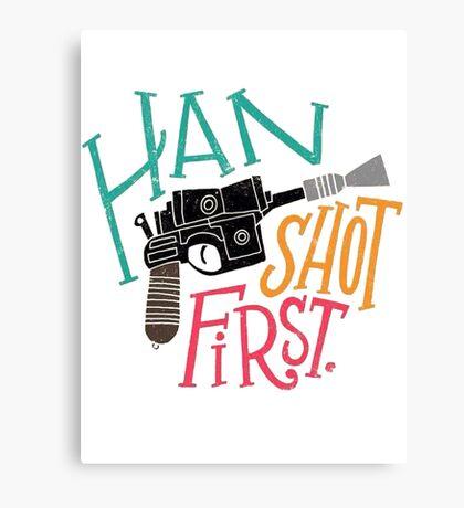 Star Wars - Han Shot First Canvas Print