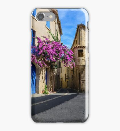 A street corner in the historical centre of Pezenas, Languedoc, France iPhone Case/Skin