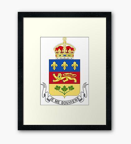Quebec Coat of Arms Framed Print