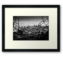 San Franciso through a Fence Framed Print
