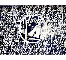 Graffiti around Athens Photographic Print