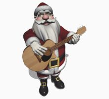 Santa Claus Plays Accoustic Guitar T-Shirt