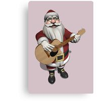 Santa Claus Plays Accoustic Guitar Canvas Print