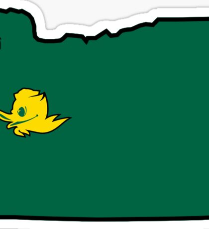 Eugene Oregon Ducks Sticker