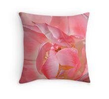 Pink Petals Pillow Throw Pillow