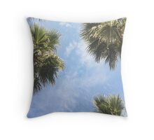 The sun and the palms Throw Pillow