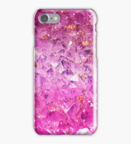 Fuchsia rough cut gemstone iPhone Case/Skin