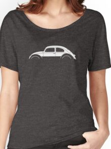 Car silhouette for Classic Oval VW beetle enthusiasts Women's Relaxed Fit T-Shirt