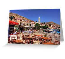 Bell Tower and Tables Greeting Card
