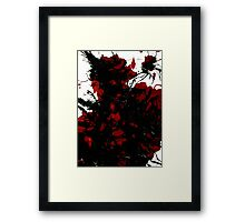 Abstract Art Painting Mess Red Black White Framed Print